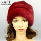 Haute qualité femmes casquette vison fourrure bonnets hiver chaud réel fourrure chapeaux avec pompon femme russe chapeau casquette dame décontracté taille unique - 1