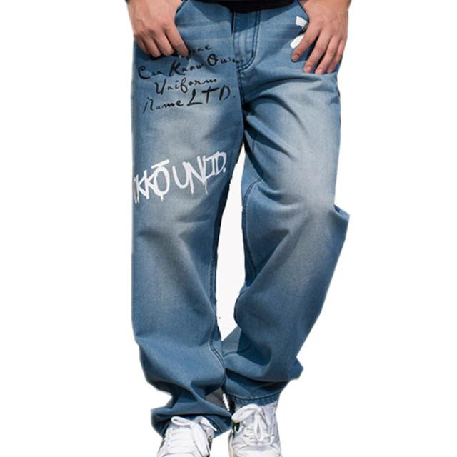 América rusia francia stree estilo hip hop loose alfabeto graffiti lavados pantalones patinetas hombres de gran tamaño jeans parpadea pantalones