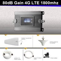 Full Kit LCD Display 80dB GSM DCS 1800mhz Mobile Phone Signal Repeater 4G LTE 1800 Cellular