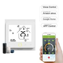 WiFi inteligentny termostat regulator temperatury do wody elektryczne ogrzewanie podłogowe woda kocioł gazowy współpracuje z Alexa Google Home 5A tanie tanio Below 1 5w BHT-002-GCLW BHT-002-GC