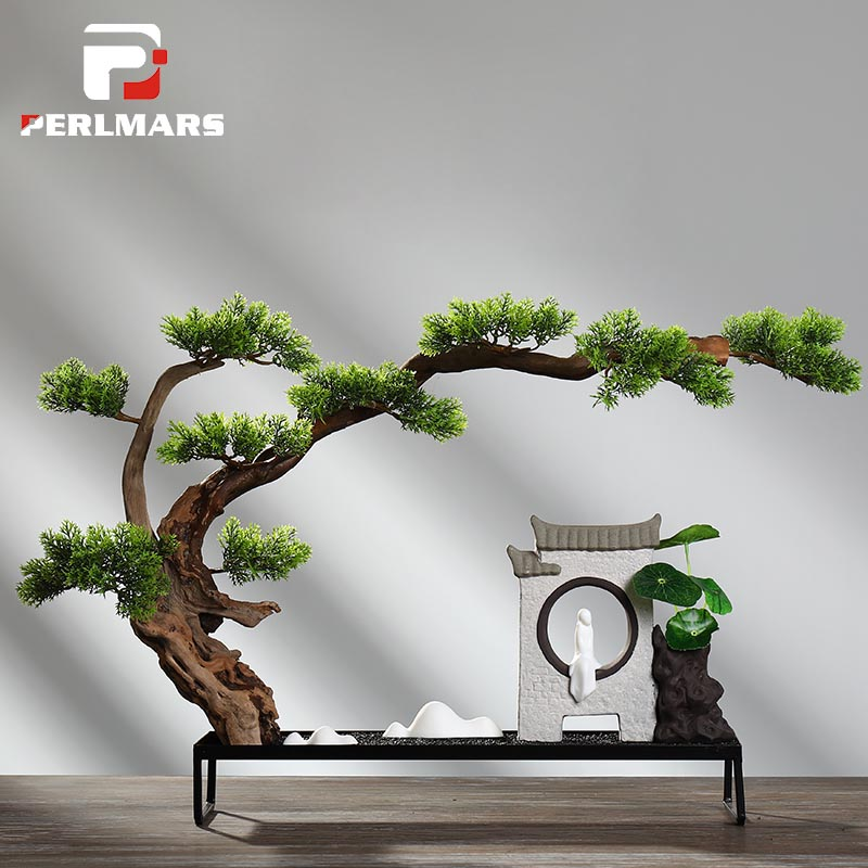 Creative Antique Chinese Style Zen Living Room Office Desktop Ornament Feng Shui Lucky Home Decoration Tea Ceremony Decor Crafts