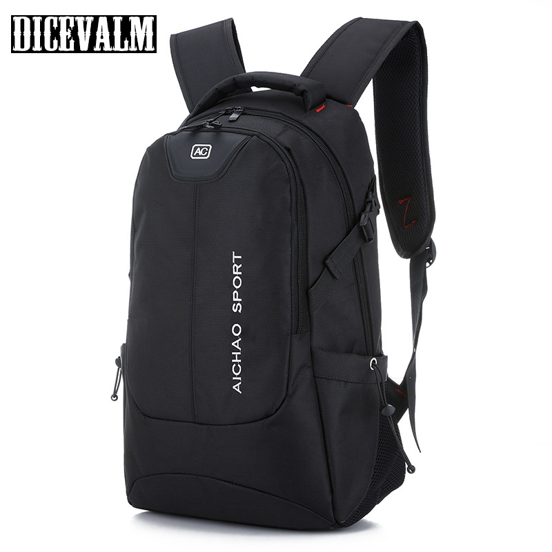 Men'S Backpack Laptop Travel Nylon Backpack Waterproof Black College Student School Bags 2018 Casual Business Back Pack Designer new products 2016 black laptop camera back pack bag waterproof travel hiking camera backpack bags cd50