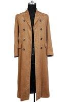 Original Doctor Who Dr. Brown hombres adultos largo Trencas traje Halloween parte traje Cosplay conjunto completo