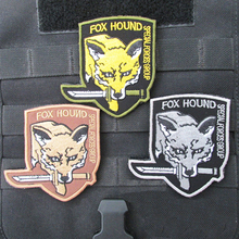 цена на Metal Gear Solid Foxhound Emblem Patch Fox Hound Uniform Patch Badge Militaria Fox Hound Special Force Group Patches