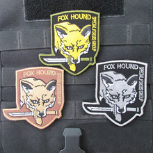 Metal Gear Solid Foxhound Emblem Patch Fox Hound Uniform Patch Badge Militaria Fox Hound Special Force Group Patches(China)