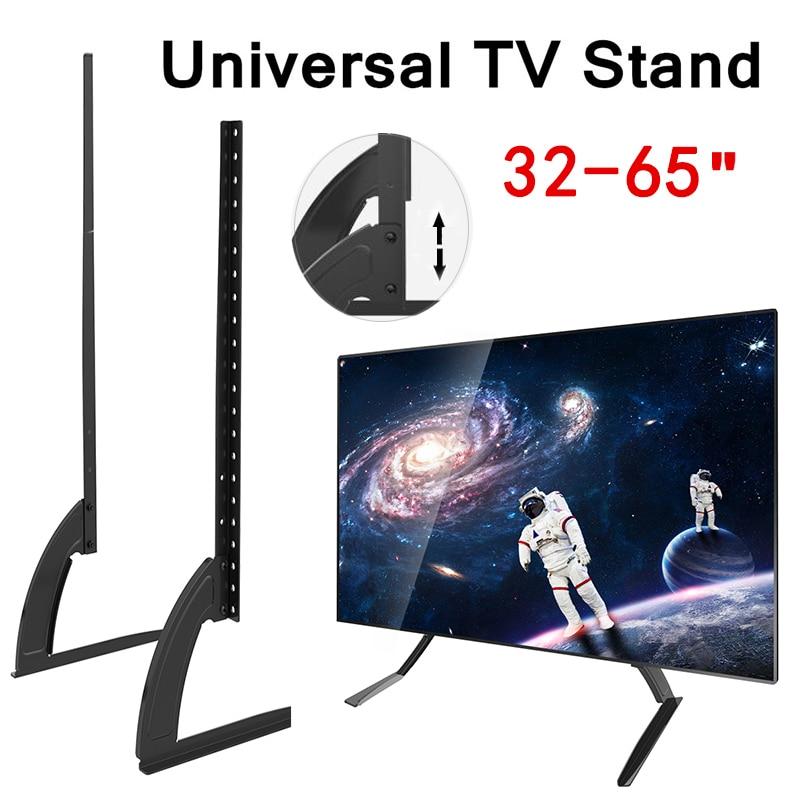 Montage 32-65 hauteur Réglable Universel TV Stand Base De Plasma LCD Écran Plat Table Top Piédestal De Bureau TV Montage Facile Installer