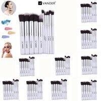 Vander 10sets Lot 10Pcs Professional Makeup Brushes Cosmetic Kits Contour Blending Foundation Powder Concealer Eyeliner
