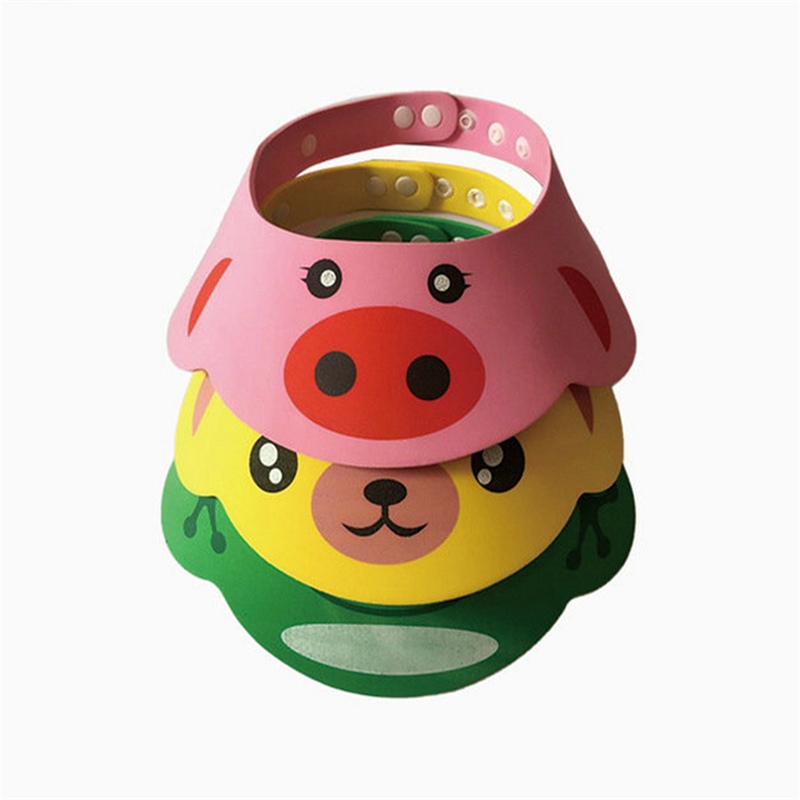 Bebe Lovely Baby Hat Toddler Adjustable Kids Shampoo Bathing Shower Cap For Baby Care Supplies Infant Wash Hair Visor Caps