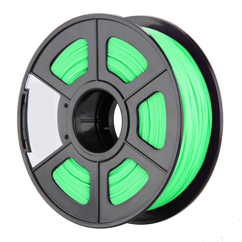 Glow in the Dark Spool of 3D Printer Filament 1Kg/2.2lbs With Tolerances: +/-0.02mm NO Air Bubbles (ABS 3.0 MM, Green) стоимость
