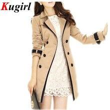 2017 новый горячий весна осень пальто женская тренчи с длинным рукавом мода отложным воротником overwear clothing S-XXXL