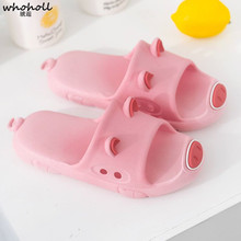 WHOHOLL Summer Man Women Lovely Pig Home Slippers Indoor Shoes Slides Flip Flops Couple Lovers Beach