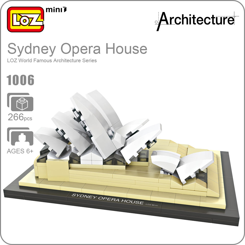 LOZ Architecture Famous Buildings City Building Blocks Sydney Opera House Model Mini Blocks Diy Building Toys Bricks Kids 1006 loz super mario kids pencil case building blocks building bricks toys school utensil brinquedos juguetes menino jouet enfant