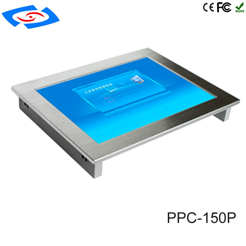Hot Sale 15 Inch Industrial Panel PC Dual Core Processor With 4xCOM/4xUSB 2.0/2xLAN For ATM & Advertising Machines & POS System
