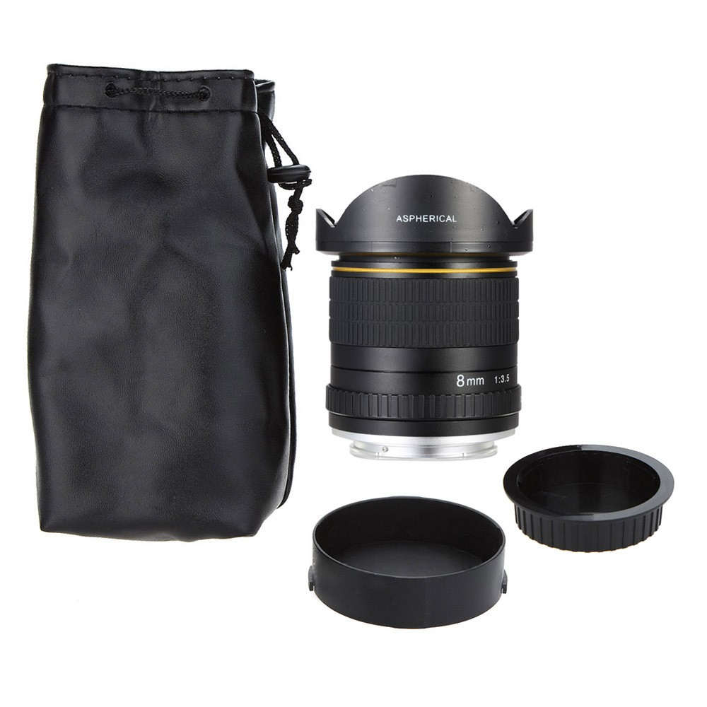 8mm F/3.5 Ultra Wide Angle Fisheye Lens for Canon DSLR Cameras 1500D 10D 800D 760D 750D 700D 750D 600D 80D 70D 60D 77D 7D 6