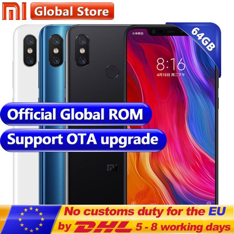 "Nuevo Original Xiao mi 8 6 GB RAM 64 GB ROM Snapdragon S845 Octa Core teléfono móvil 3400 Mah dual 12.0MP + 20.0MP 6,21 ""2248*1080 FHD +"