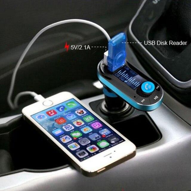 Автомобиля FM Передатчик Беспроводной Bluetooth Музыка Громкой связи Беспроводной Mp3-плеер Автомобильный Комплект USB Зарядное Устройство Поддержка SD/TF Карты