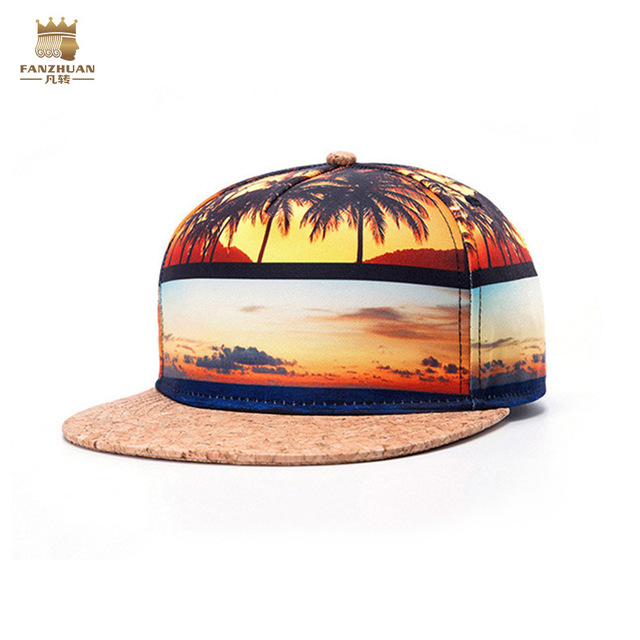 FanZhuan Free shipping fashion 2017 casual men's male thermal transfer 3D stereo stitching hip cap hat 604009 palace personality