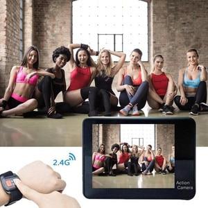 "Image 3 - 4K 2.0 ""Touch Screen WIFI Dual หน้าจอ 12MP กล้อง 30m DV 170 องศากว้างเลนส์มุมกว้างกีฬา Cam"