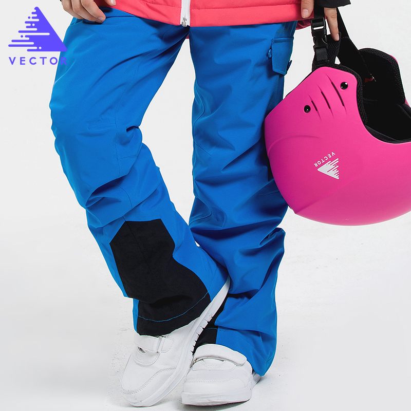 VECTOR Children Ski Pants Warm Waterproof Girls Boys Skiing Snowboarding Pants Winter Kids Child Ski Clothing