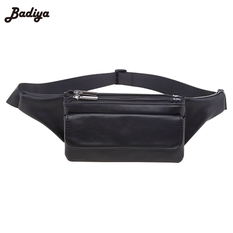 Fashion Fanny Bag Pu Leather Women Waist Pack Multi Layer -1189