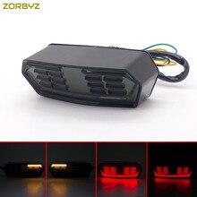 Zorbyz дым светодио дный Хвост тормоза течет вода указатель поворота для Honda гром MSX125 CB/CBR650F CTX700/CTX700N