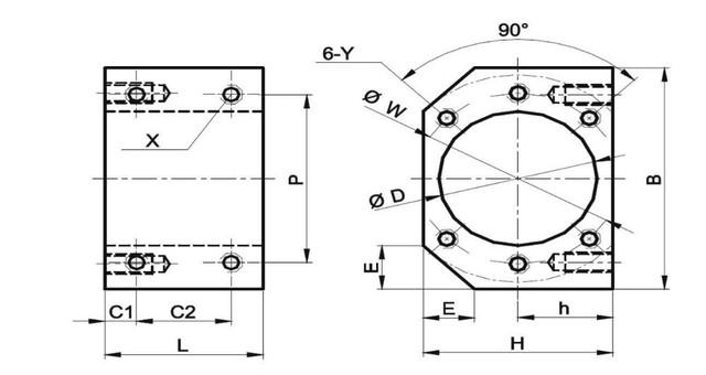 DE ship / free VAT Ball screw SFU1605 & 2Pcs linear guide SBR16 L500mm +4PC SBR16UU & BK/BF12 from RATTMMOTOR