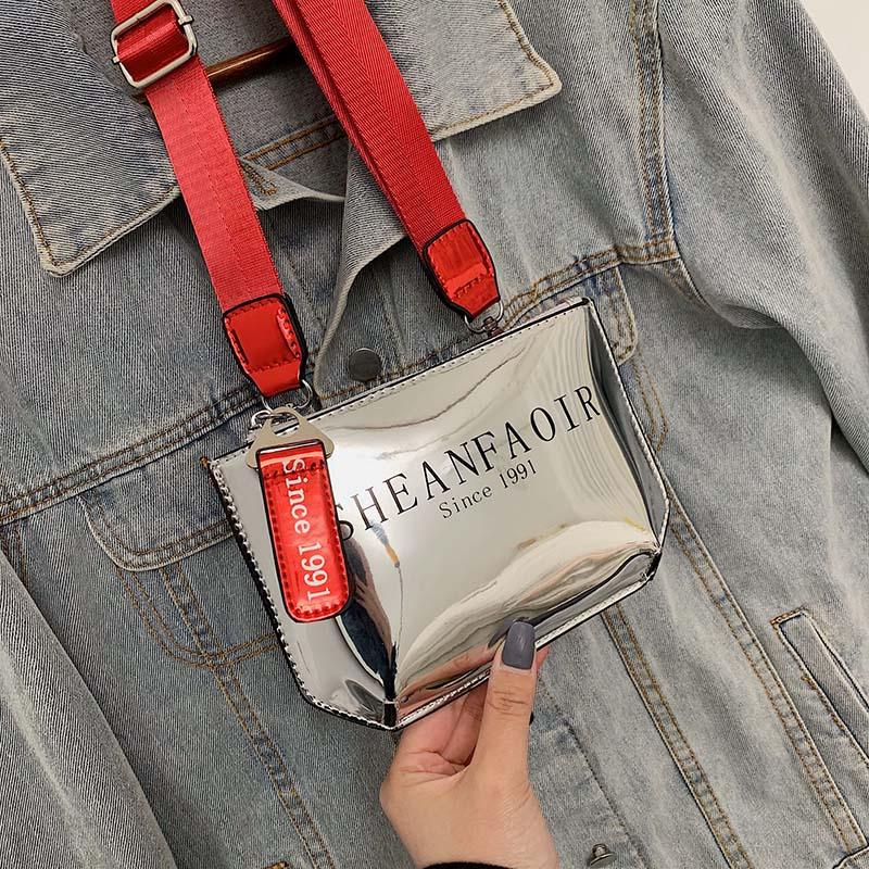 Women's Waist Bag Bright Leather Fanny Pack PU Waterproof Handbag Banana Hip Chest Bags Shoulder Messenger Waist Belt Bag