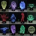 Lámpara de Star Wars 3D Visual Led Luces de La Noche para Los Niños Robot R2-D2 USB Touch Lampara de Mesa ya que Además de Lampe de Dormir Del Bebé de Luz Nocturna