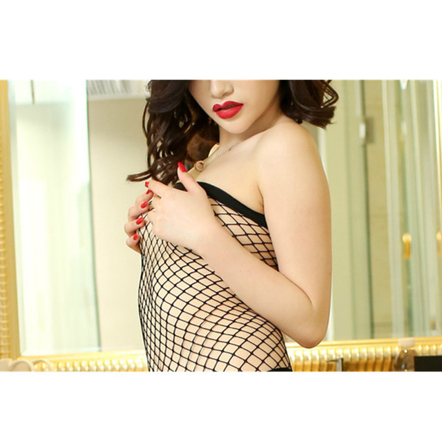 Sexy Fish Net Lace Bodystocking 2017 Hot Style Sexy Lingerie Solid Black rose-Red Bodystocking Sexy Lingerie sexy bodystocking