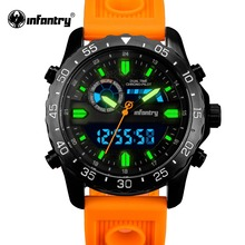 Infantry мужчины часы аналоговые кварцевые наручные часы водонепроницаемый хронограф авто дата спортивные часы relogio masculino 2017 новое прибытие
