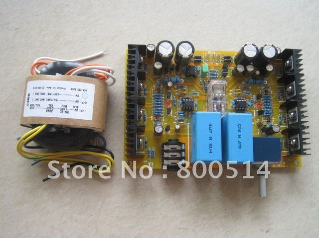 Assembled HV1 Headphone amplifier board with ALPS pot + 30W R-core Transformer