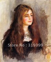 Oil Painting Reproduction,julie manet , oil painting on linen canvas,Fedex Shipping,handmade