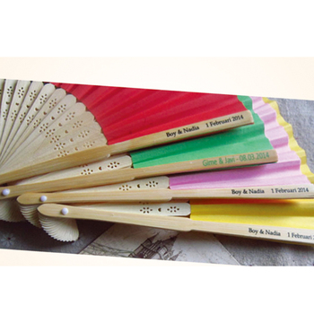 100pcs Paper Hand Fan with personalized printing service for party favor wedding promotion gift
