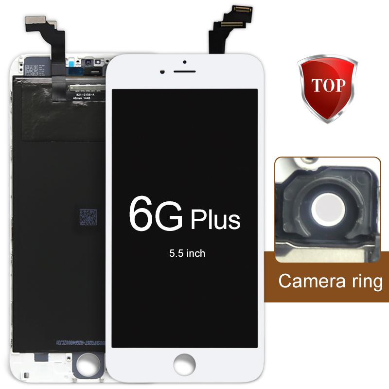 Prix pour 5 pcs 100% garantie qualité aaa lcd écran pour iphone 6 plus lcd écran tactile en verre digitizer assemblée