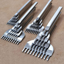 4 Pcs/Set Leather Craft Tools Stainless Steel 1+2+3+6 Hole Chisel Graving Stitching Punch Tools Kit 3mm/4mm/5mm/6mm for Sale(China)