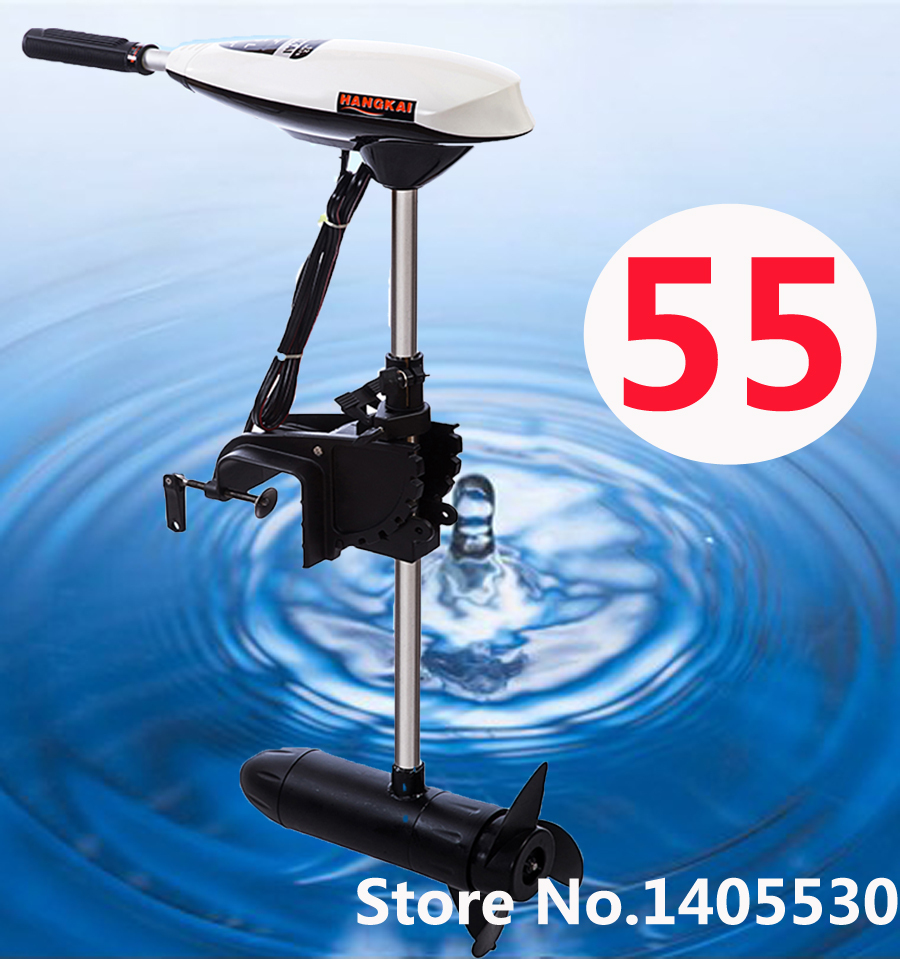 New Arrive Brand NEW HANGKAI 55 Lbs 12V Trolling Motor Fishing MotorOutboard Full Warranty Salt And Fresh Water Use