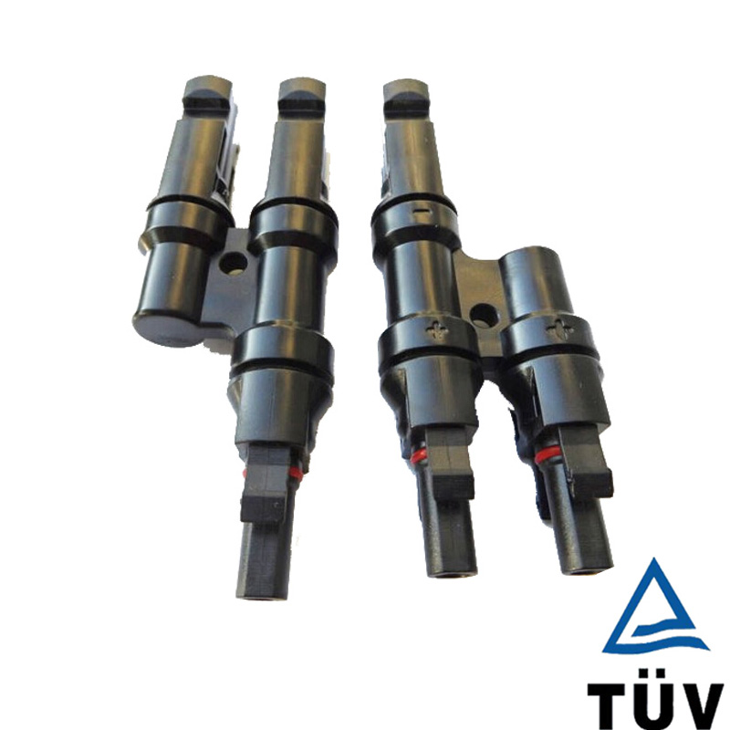 10 / 15 Pairs TUV IP67 Solar PV MC4 Branch Connectors T Branch 2 to 1 Connector Male Female Adapter For Solar Connector TF0162 mc4 connector 1 to 2 y branch parallel connection connecting solar panel for solar system use ip67 10 pairs 5 pairs