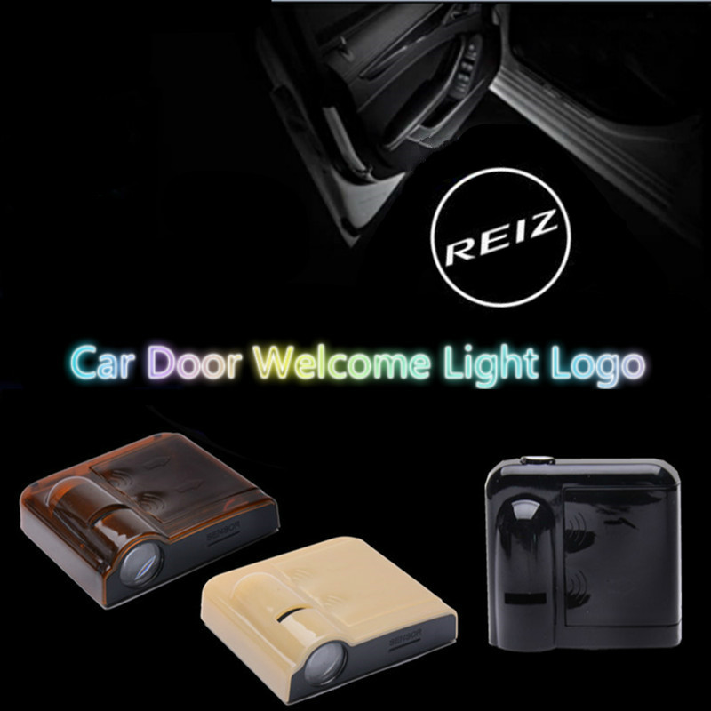JURUS 2pcs Wireless Car LED Door Welcome light Laser Projector Ghost Shadow Light For Toyota Camry Rei Corolla led light