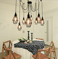Lamp Light Small Birdcage Pendant Lights With 5/6/8/10/12 Heads E27 Vintage Style Pendant Lamps For Home/Room/Living Room
