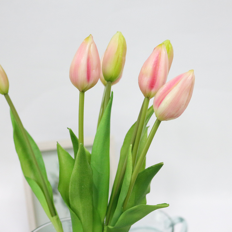 JAROWN Simulation Of Real Tactile Tulip Artificial High Quality Latex Tulip Bouquet Flores For Wedding Decoration Home Decor (20)