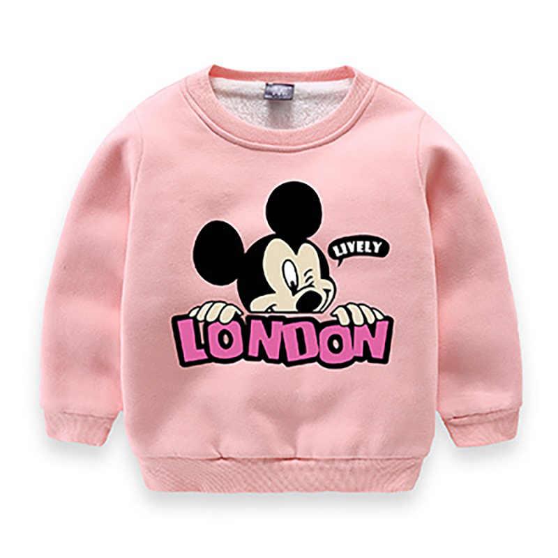6f86abe5bc ... Boys Girls Mickey Mouse Sweatshirts 2019 Winter Thicken Children  Hoodies Baby Girls Print Sweater Kids Cartoon ...