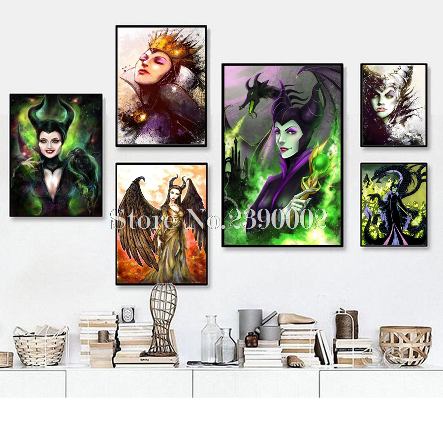 Maleficent 5D Diy Diamond Mosaic Handmade Diamond Painting Cross Stitch Diamond Embroidery Cartoon Princess Rhinestones Arts image