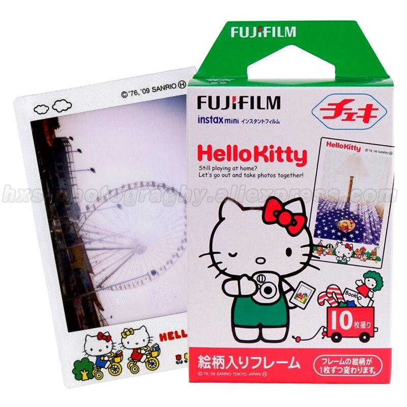 Original 10pcs Fujifilm Instax Mini 8 Film Fuji Photo Paper Hello Kitty For Polaroid 8 50s 7s 7 90 25 Share SP-1 Instant Camera 100% original fuji fujifilm instax mini 8 film white 50 pcs for 8 7 7s 50s 90 25 dw 50i share sp 1 polaroid instant photo camera