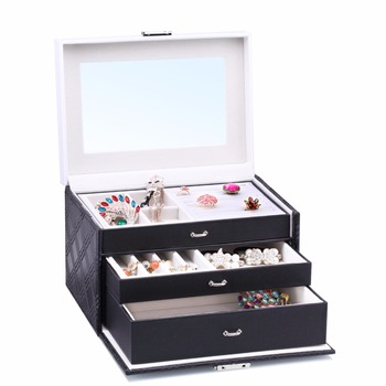 Large Jewelry Storage Boxes Rings Velvet