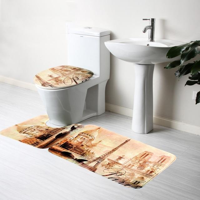 3 stks/set Badkamer Badmat Zon Van Strand Badkamer Slip Mat wc ...