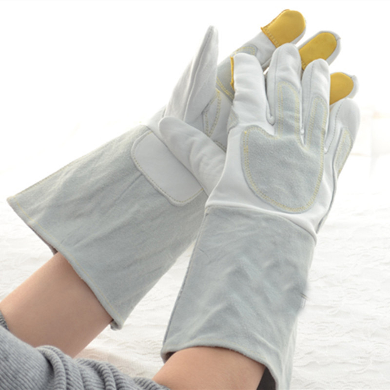 New 35cm long sheepskin Best selling working safety gloves 2017 TIG MIG welding glove sports gloves high quality leather glove mig mag burner gas burner gas linternas wp 17 sr 17 tig welding torch complete 17feet 5meter soldering iron air cooled 150amp