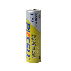 Image 2 - 4 adet/kart PKCELL AA piller 1.2 V NI MH 2600mAh 2A NIMH 1.2 Volt AA şarj edilebilir pil Baterias Bateria piller