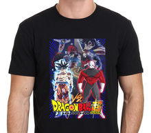 2017 Fashion Short Sleeve Black T Shirt customized Super Goku Ultra Instinct VS Jiren Men's T-Shirt Black