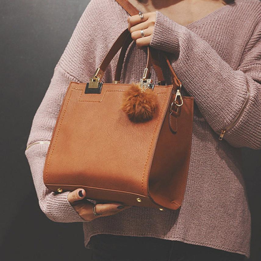 Женская Мода PU обувь из кожи и меха мяч плечо диагональ мешок Для женщин Однотонная одежда молния небольшая площадь сумка # F