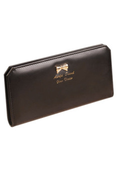 Lady Slim Faux Leather Long Wallet Card Purse Bag(rose red)